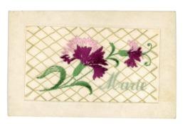 CPA FANTAISIE PRENOM MARIE - Embroidered