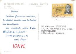 LIBERIA - CROISIERE 1959 -  DU POLE NORD AU POLE SUD - IONYL - PLASMARINE - LIBERIA. - Liberia