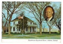 CPSM ETATS-UNIS USA KANSAS ABILENE EISENHOWER BOYHOOD HOME - Etats-Unis
