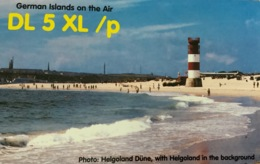 Qsl Card Germany - Helgoland, Helgoland Düne, Lighthouse Leuchtturm - Radio Amateur
