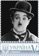 Ukraine 2017, Great Men Of 20th Century, Charlie Chaplin, Cinema, 1v - Ucrania
