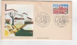 PREMIER JOUR 1977 SERIGRAPHIE DE WALKER  CACHET EUROPA PARIS ET TIMBRE - FDC