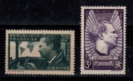 YV 337 & 338 N* (trace) Mermoz Cote 6,50 Euros - France