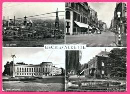 Cp Dentelée - Esch Sur Alzette - Multivues - Vue Générale - Crèche - Bains - Vieilles Voitures - Edit. PAUL KRAUS - Esch-Alzette