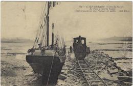 22   L'ile -grande  Le Port A Maree Basse Embarquement Des Pierres De Taille - Autres Communes