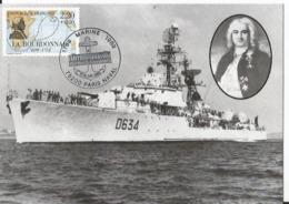 Carte Maximum - Escorteur L'Escadre - Le Bourdonnais   - Marine 1989 - Paris Naval - Premier Jour FDC - Warships