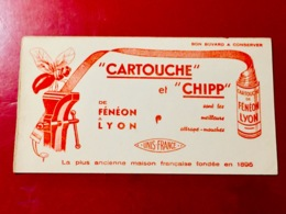 BUVARD   (  CARTOUCHE   Et  CHIPP  )  Attrape - Mouches - Wash & Clean
