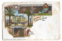 Monte  Carlo  -  Le Casino  Et  Illustrations  Des  Gens  Qui  Ont  Perdu - Gruss Aus.../ Gruesse Aus...