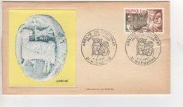 PREMIER JOUR 1977 SERIGRAPHIE DE BARTOK  CACHET ABBAYE DE FONTENAY ET TIMBRE - FDC