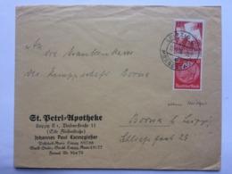 GERMANY 1936 Cover Leipzig To Borna - `St. Betri Apotheke` - Germania