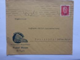 GERMANY 1930 Cover Erfurt To Rendsburg With `Rudolf Mosse` Logo - Deutschland