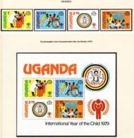 YEAR INTERN. OF CHILD - UGANDA - Mi. Nr. 203/206 + BF 16 - NH - (6532-32.) - Uganda (1962-...)