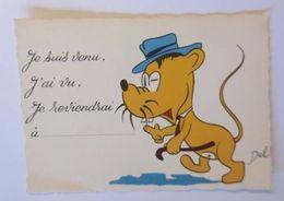 """""""Personifiziert, Hund, Comic"""" 1950, Del. ♥  - Hunde"""