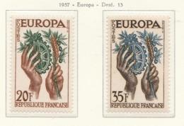 PIA - CEPT - 1957 - FRANCE  - (Yv 1122-23) - Europa-CEPT