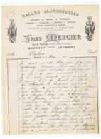 HALLES JEUMONTOISES JULES MERCIER  à MARPENT JEUMONT (NORD)  1914 - Alimentare