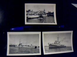 3 Photographies Anciennes  Anonyme Bateaux A Identifier - Barche