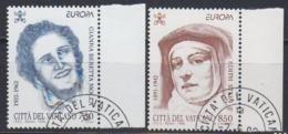 Europa Cept 1996 Vatican City  2v Used (44915) - Europa-CEPT