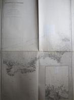Carte Marine Ponstuval à L'Ile De Batz - Port De Ponstuval - Relevé De 1837 à 1838  - Beautemps - Beauprè - Nautical Charts
