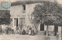 JEUGNY - TRES BELLE ANIMATION DEVANT L'HOTEL DE LA GARE - BELLE CARTE -  TOP !!! - Francia