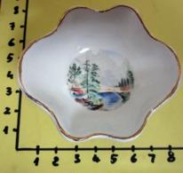 PIATTINO CERAMICA MALABAR BORDO DORATO   VINTAGE - Ceramica & Terraglie