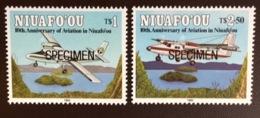 Tonga Niuafo'ou 1993 Aviation Aircraft Anniversary Specimen MNH - Tonga (1970-...)