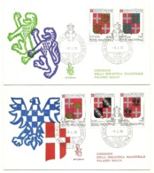 1979 - Sovrano Militare Ordine Di Malta 156/60 Stemmi       FDC     14/81 - Buste
