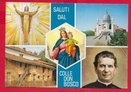 CARTOLINA NV ITALIA - Saluti Dal Colle Don Bosco - Vedutine Multivue - 10 X 15 - Saluti Da.../ Gruss Aus...
