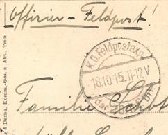 1915 CERNAY LES REIMS / OCCUPATION ALLEMANDE / CACHET DE LA FELDPOSTEXP / 28 INF DIV  B951 - Occupation 1914-18