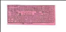 1 Ticket Ancien. Tramways De BÂLE (Suisse).  Voir Description - Strassenbahnen