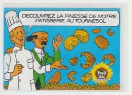 BB898 - Dépliant Publicitaire - FRUIT D'OR - Huile - Spécial Pâtissier - Professeur Tournesol - Tintin - Croissant - - Advertising