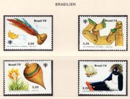 YEAR INTERN. OF CHILD - BRASILE - Mi. Nr. 1742/1745 - NH - (6532-33.) - Uruguay