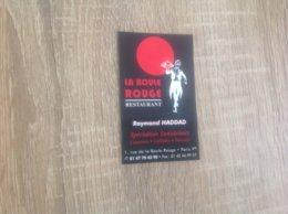 Carte De Visite De Restaurant  La Boule Rouge   Paris - Cartoncini Da Visita