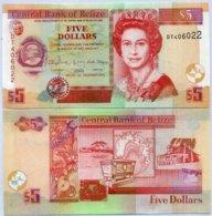 BELIZE 5 DOLLAR 2015 P 67f UNC - Belize