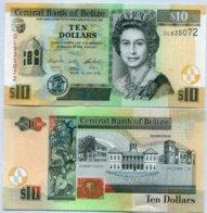 BELIZE 10 DOLLAR 2016 P 68 NEW SIGN UNC - Belize