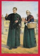 CARTOLINA NV ITALIA - DON BOSCO E Mamma Margherita - Ed. Ricordi Religiosi - 10 X 15 - Saints