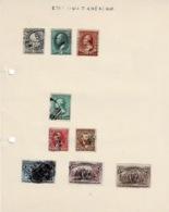 Début De Collection De Plus De 50 Timbres Anciens (4 Scans ) - Etats-Unis