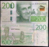 SWEDEN 200 KRONOR 2015 P 72 NEW DESIGN UNC - Sweden