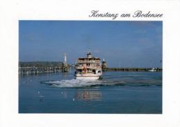 """1 AK Germany * Konstanz Am Bodensee - Das MS """"Austria"""" Verläßt Das Hafenbecken In Richtung Bregenz * - Konstanz"""