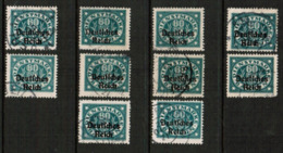 BAVARIA  Scott # O 59 USED WHOLESALE LOT OF 10 (WH-311) - Lots & Kiloware (mixtures) - Max. 999 Stamps