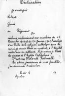Militaria -  Formulaire - Déclaration - Devant Etre Rempli Par Chaque Soldat Réclamant L'assistance D'un Pretre . - Old Paper