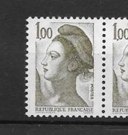 """France """"Liberté N°2185c ** (sans Phosphore Gomme Mate Cote 20,00€) - Unused Stamps"""