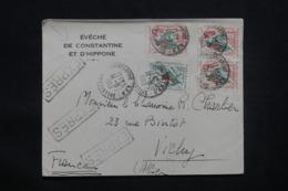 ALGÉRIE - Enveloppe De L'évêché De Constantine En Exprès Pour Vichy En 1963, Affranchissement Plaisant - L 43142 - Algerije (1962-...)