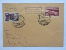 SAAR 1956 Cover Bexbach Sonderstempel With Kleinottweiler Cachet - 1947-56 Occupation Alliée