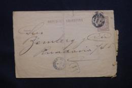ARGENTINE - Entier Postal Voyagé En 1888 , à Voir - L 43144 - Interi Postali