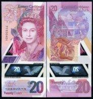 EAST CARIBBEAN 20 DOLLARS 2019 P NEW DESIGN POLYMER QE II UNC - East Carribeans