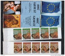 2000 Europa - Millenium L.da Vinci   2 BOOKLET- MNH  (carnet) Bulgaria / Bulgarie - 2000
