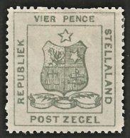 Stellaland 1884. 4d Olive-grey. SACC 3*, SG 3*. - 1882-1885 Stellaland