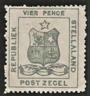Stellaland 1884. 4d Olive-grey. SACC 3(*), SG 3(*). - 1882-1885 Stellaland