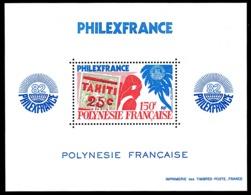 POLYNESIE 1982 - Yv. BF 6 (180) ** TB  Cote= 21,00 EUR - Expo Phil. Philexfrance'82  ..Réf.POL24247 - Blocks & Kleinbögen