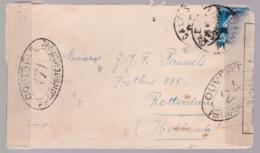 TYPE SAGE SUR Enveloppe De  1916 De Calais  Vers Rotterdam  Controle Postal Militaire - Storia Postale
